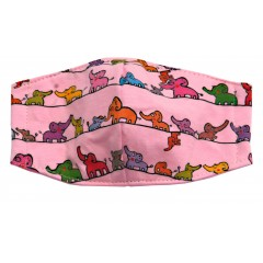 Elephants Greetings - Kid Pink Mask