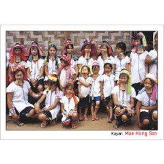 A GROUP PHOTO OF KAYAN, MAE HONG SON