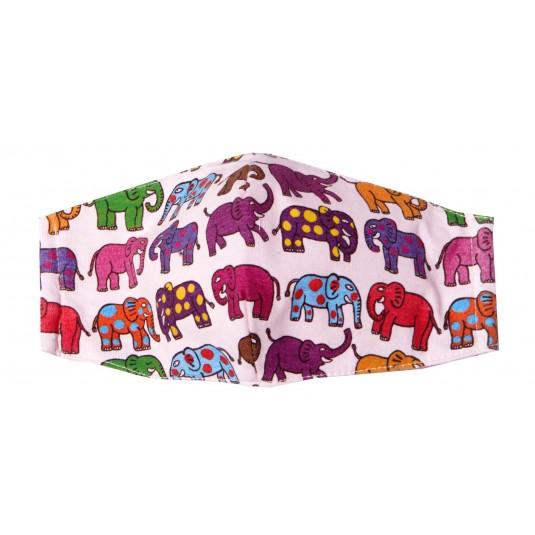 12 Eephants - Adult Pink Mask
