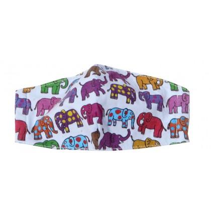 12 Elephants  - Adult  Blue Mask