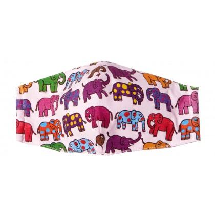 12 Elephants - Kid Pink Mask