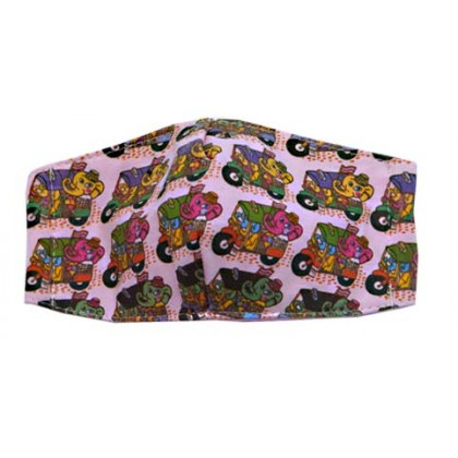 Elephant & Tuk Tuk - Kid Pink Mask