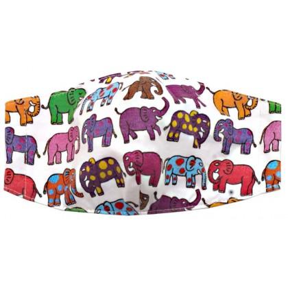 12 Elephants - Kid White Mask