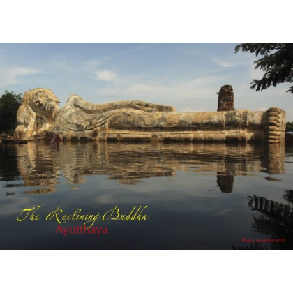 THE RECLINING BUDDHA, AYUTTHAYA.