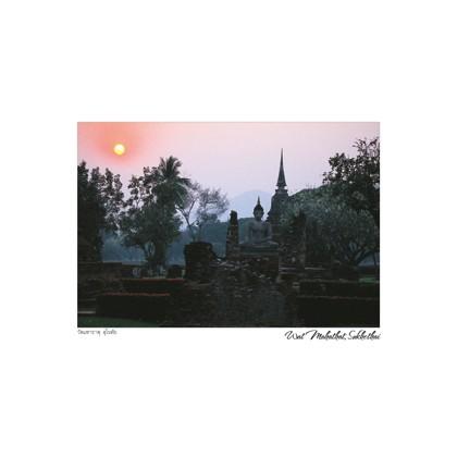 SUNSET AT SUKHOTHAI HISTORICAL PLACE